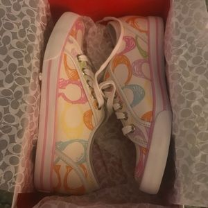New in box Coach Pastel Sneakers.